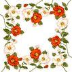 花卉边框0013,花卉边框,花纹边框,花枝 拼凑 花围