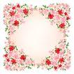 花卉边框0014,花卉边框,花纹边框,淡红色 周边 花簇