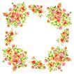 花卉边框0015,花卉边框,花纹边框,空心 花枝 围拢
