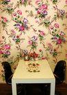 花纹的应用典范0013,花纹的应用典范,花纹边框,餐饮 古典 桌椅 侧面 百花