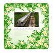 花纹的应用典范0016,花纹的应用典范,花纹边框,列车 铁路 运输 绿叶 衬托