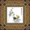 花纹的应用典范0028,花纹的应用典范,花纹边框,相框 贺年 古典 公鸡 新年