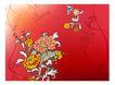饰角素材0022,饰角素材,花纹边框,渐变色 秋菊 季节