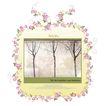 饰角素材0024,饰角素材,花纹边框,花饰 树木 文字说明