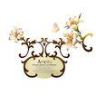 饰角素材0030,饰角素材,花纹边框,欧式风格 款式 彩蝶