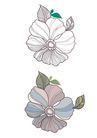 饰角素材0055,饰角素材,花纹边框,素画 简笔 勾写