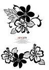 饰角素材0059,饰角素材,花纹边框,素画 黑白 色调