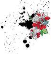 饰角素材0060,饰角素材,花纹边框,墨斑 破坏 花色