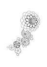 饰角素材0062,饰角素材,花纹边框,花蕊 素笔 浅画