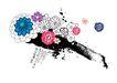 饰角素材0067,饰角素材,花纹边框,黑土 野花 开放