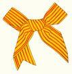 饰角素材0148,饰角素材,花纹边框,蝴蝶结 红黄 斑纹