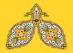 饰角素材0158,饰角素材,花纹边框,对称 内纹 装饰
