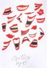 府烈茶0024,府烈茶,世界设计大师,红嘴唇 牙齿 嬉笑 张口 闭嘴