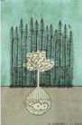 王冠咏0024,王冠咏,世界设计大师,树 埋葬 鸟 土壤