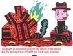 王翰尼0085,王翰尼,世界设计大师,红色 倒塌 火苗