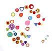 皮埃尔.迪休洛0029,皮埃尔.迪休洛,世界设计大师,小彩圆 彩色水滴 小六边形