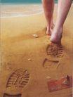 服饰及关联品0005,服饰及关联品,中国广告作品年鉴2007,沙滩 脚印 步行