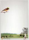 美容卫生用品0022,美容卫生用品,中国广告作品年鉴2007,飞翔的鸟 家 草地 清洁