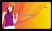 倩倩礼品0014,倩倩礼品,企业广告PSD分层,贵宾卡 女郎 微笑
