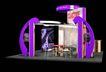 展台展柜0090,展台展柜,商业空间展示,桌椅 紫色 展示台