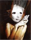 360度作品0026,360度作品,招贴画设计,苍白的脸 竖起的头发 大眼睛 女孩 迷茫