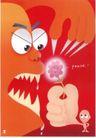 台湾海招贴画0080,台湾海招贴画,招贴画设计,尖牙