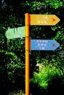 社区标识牌0021,社区标识牌,矢量名片模板,尖的 黄色 方向各异