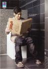 企业形象0038,企业形象,第十三届中国广告节获奖作品集,坐马桶上