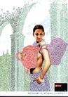 金融保险0012,金融保险,第十三届中国广告节获奖作品集,女模特 背包 数字构图