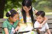 学前教育0077,学前教育,亲子教育,儿女 携带 看书