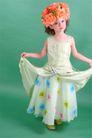 儿童0051,儿童,亲子教育,儿童摄影 连衣裙 满头的花