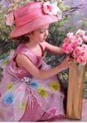儿童0053,儿童,亲子教育,大礼帽 纱裙 花束