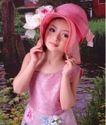 儿童0054,儿童,亲子教育,风景背景 粉色裙子 精心化妆