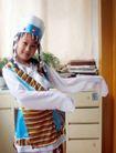 儿童0076,儿童,亲子教育,蒙古族 女童 挥袖