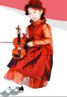 儿童0091,儿童,亲子教育,女孩 小提琴 学习