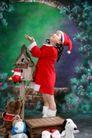 可爱造型0028,可爱造型,亲子教育,圣诞服 洋娃娃 站着
