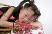 可爱造型0030,可爱造型,亲子教育,睡着 花朵 红花