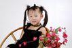 可爱造型0032,可爱造型,亲子教育,竹椅 小辫子 衣饰