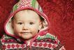 新生婴儿0066,新生婴儿,亲子教育,花衣裳 戴着帽子