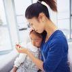 温馨家庭0092,温馨家庭,亲子教育,母亲 孩子 纸鹤