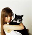 童趣0022,童趣,亲子教育,女孩 黑猫 宠物
