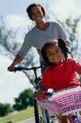 美国家庭0011,美国家庭,亲子教育,自行车 母女 郊游