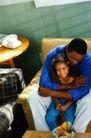 美国家庭0015,美国家庭,亲子教育,幸福 黑人 父女