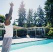 养生0012,养生,生活,游泳池 游泳 手势 预备 热身
