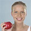 养生0015,养生,生活,苹果 新鲜 牙齿 整齐 笑容