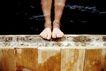 养生0021,养生,生活,脚掌 木板 澡盆