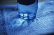 商业图片0009,商业图片,商业情景,透明 光影 矿泉水 杯垫 纯净