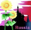 国家与鲜花0001,国家与鲜花,分层花纹,向日葵 向阳 城堡 阳光 生长