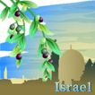 国家与鲜花0021,国家与鲜花,分层花纹,阿拉伯 橄榄 垂枝