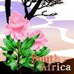 国家与鲜花0022,国家与鲜花,分层花纹,南非 远去 小河